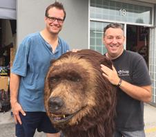 Daily Planet Show visiting Kodi the bear